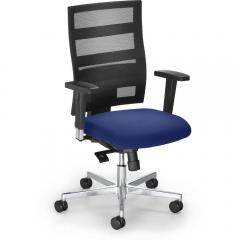 Bürodrehstuhl SITNESS 90 inkl. Armlehnen Blau