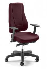 Bürodrehstuhl UNIQUE hohe Lehne, ohne Arml. Fuß schwarz