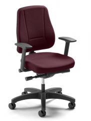 Bürodrehstuhl UNIQUE ohne Armlehnen, Fußkreuz schwarz