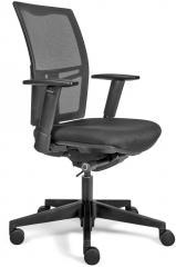 Bürodrehstuhl VERONA mit Armlehnen mit Netzrücken schwarz