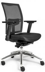 Bürodrehstuhl VERONA DELUXE mit Armlehnen mit Netzrücken schwarz
