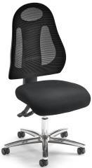 Bürodrehstuhl VOLTERA ohne Armlehnen Schwarz/Schwarz | Verchromt