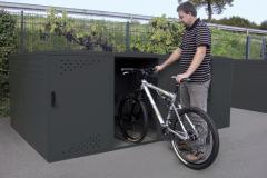 Fahrradgarage Bike Box mit Giebel- oder Bogendach