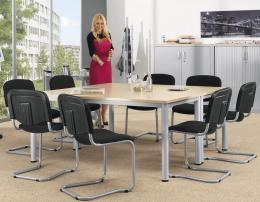 SET-ANGEBOT: 2x Konferenztisch + 8x Besucherschwinger