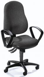 Bürodrehstuhl COMFORT I mit Armlehnen Anthrazit | feste Armlehnen | Polyamid schwarz