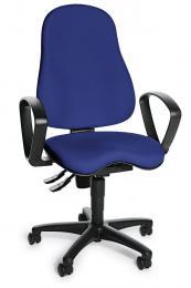 Bürodrehstuhl SITNESS 30 mit Armlehnen Blau
