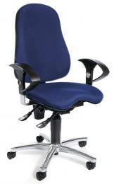 Bürodrehstuhl SITNESS 40 mit Armlehnen Blau