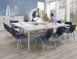 SET-ANGEBOT: 4x Konferenztisch BASE-MODUL + 12x Stühle
