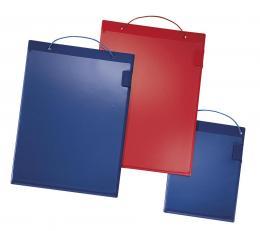 Auftragstasche DIN A4 Blau | inkl. Klettverschluss und Klarsichtfolie