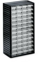 Kleinteilemagazin mit 48 Schubladen 48 Schubladen - Typ 2 (Größe B 69 x H 37 x T 175 mm)   H 550 x B 310 x T 180 mm