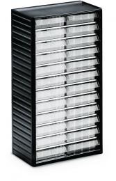 Kleinteilemagazin mit 24 Schubladen 24 Schubladen - Typ 3 (Größe B 138 x H 37 x T 175 mm)   H 550 x B 310 x T 180 mm