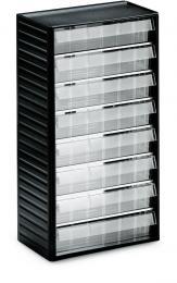Kleinteilemagazin mit 8 Schubladen 8 Schubladen - Typ 5 (Größe B 277 x H 59 x T 175 mm)   H 550 x B 310 x T 180 mm
