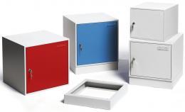 Stahl-Einzelschließfächer mit Vollblechtüren, stapelbar