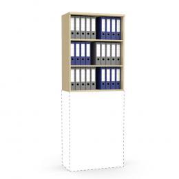 Aufsatzregal MULTI MODUL Buchedekor | 800 | 1055 mm (3 OH)