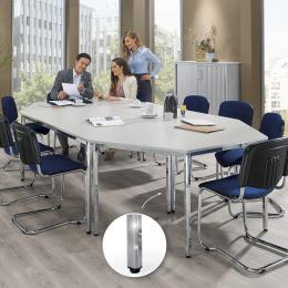 SET-ANGEBOT: 2x Rechteck-, 2x Trapeztisch + 10x Stühle