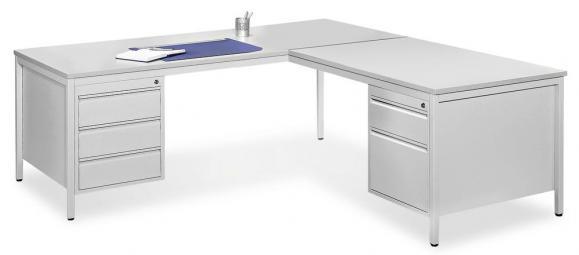 Jumbo-Schreibtisch 4-Fuß BASE LINE mit Hängecontainern