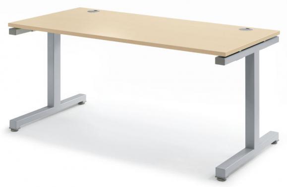 Schreibtisch Comfort 2.0 MULTI MODUL Ahorndekor | 1200 | Alusilber RAL 9006