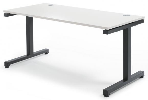 Schreibtisch Comfort 2.0 MULTI MODUL Weiß | 1600 | Anthrazit RAL 7016