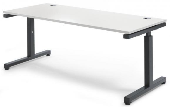 Schreibtisch Comfort 2.0 MULTI MODUL Weiß | 1800 | Anthrazit RAL 7016