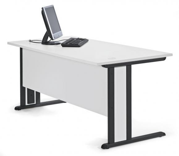 Schreibtisch Basic MULTI MODUL Lichtgrau | 1600 | Anthrazit RAL 7016
