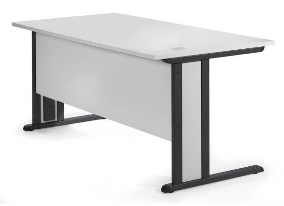 Schreibtisch Basic MULTI MODUL Weiß | 800 | Anthrazit RAL 7016