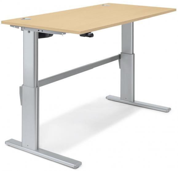 Sitz-/Stehschreibtisch BASIC DELTAFLEXX Ahorndekor | 1200