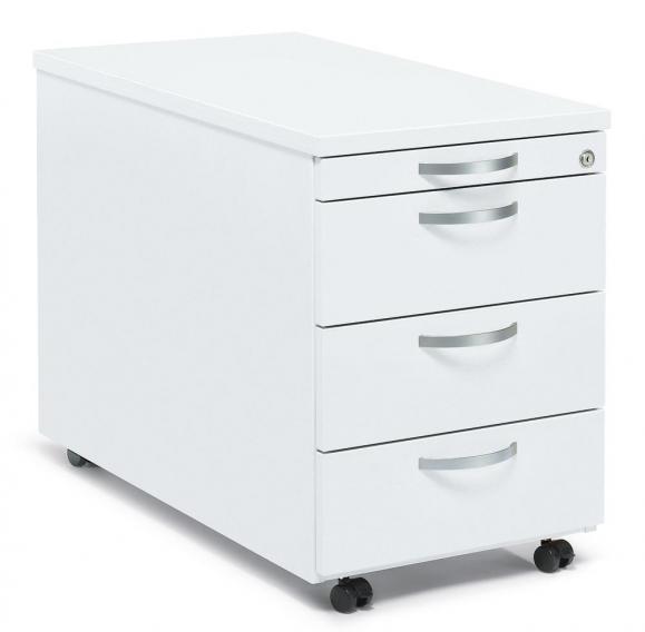 Rollcontainer PROFI MODUL Weiß | 600 | 1 + 3 Schübe