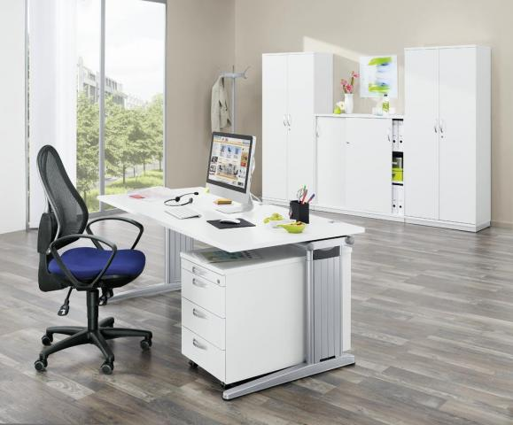 SET-Angebot Einzelarbeitsplatz PROFI MODUL Weiß