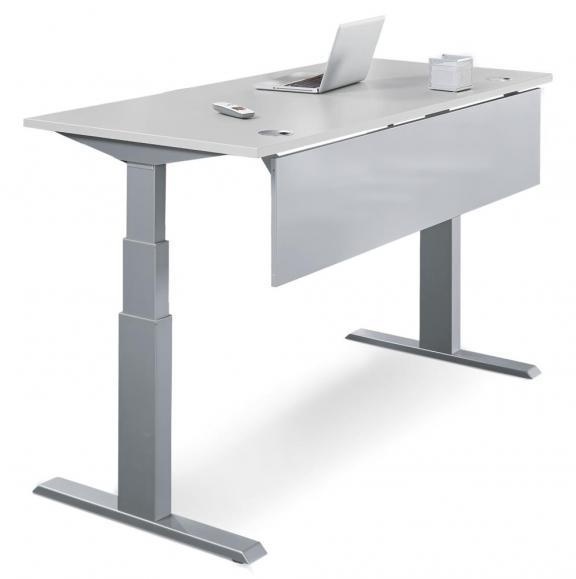 Sitz-/Stehtisch Comfort PROFI MODUL Lichtgrau | 1200 | Alusilber RAL 9006 | Rechteck