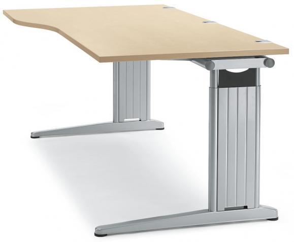 Schreibtisch Freiform C-Fuß PROFI MODUL Ahorndekor | 1800 | Freiform rechtsseitig
