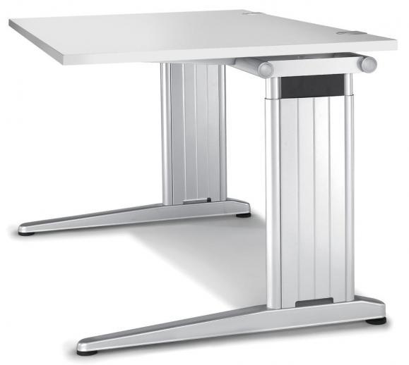 Schreibtisch C-Fuß PROFI MODUL Lichtgrau | 1200