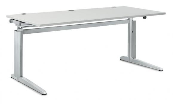 Sitz-/ Stehtisch PROFI MODUL Lichtgrau | 2000 | Rechteck