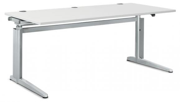 Sitz-/ Stehtisch PROFI MODUL Weiß | 1600 | Rechteck