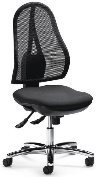 Bürodrehstuhl COMFORT NET DELUXE ohne Armlehnen Schwarz/Anthrazit   ohne Armlehnen (optional)