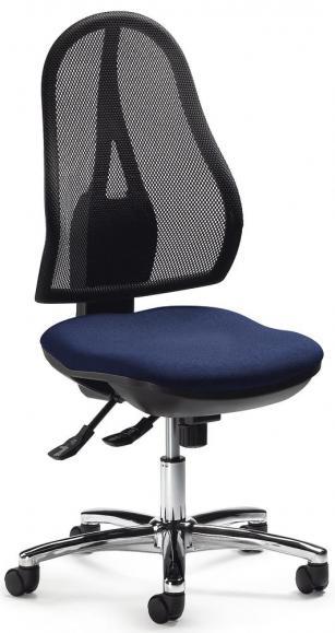 Bürodrehstuhl COMFORT NET DELUXE ohne Armlehnen Schwarz/Dunkelblau   ohne Armlehnen (optional)