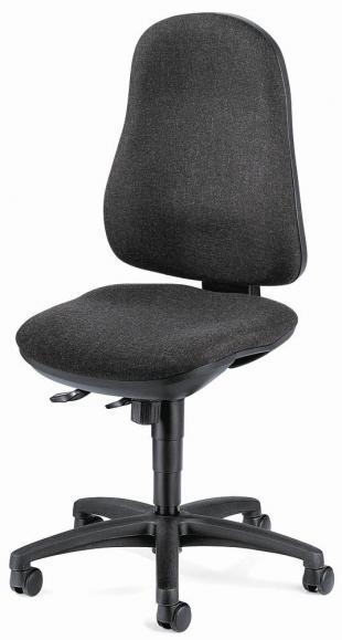 Bürodrehstuhl COMFORT I ohne Armlehnen Anthrazit | ohne Armlehnen (optional) | Polyamid schwarz