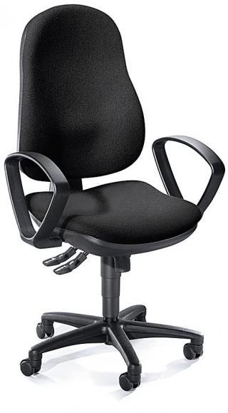 Bürodrehstuhl COMFORT I inkl. Armlehnen Schwarz | Polyamid schwarz