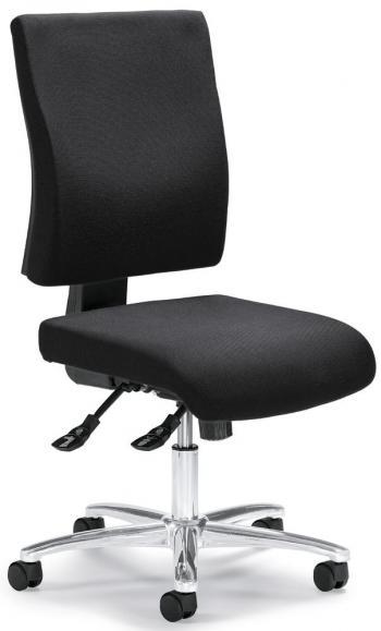 Bürodrehstuhl COMFORT R DELUXE ohne Armlehnen Anthrazit | ohne Armlehnen (optional)