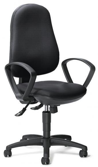 Bürodrehstuhl COMFORT S mit Armlehnen Schwarz | feste Armlehnen
