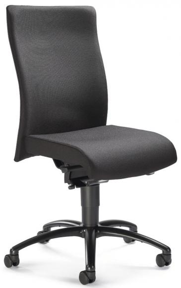 Bürodrehstuhl DV 35 ohne Armlehnen, Fußkreuz schwarz