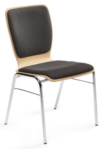 Besucherstuhl JARA SOFTEX mit Sitz- und Rückenpolster