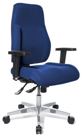 Bürodrehstuhl Performance PLUS ohne Armlehnen Blau
