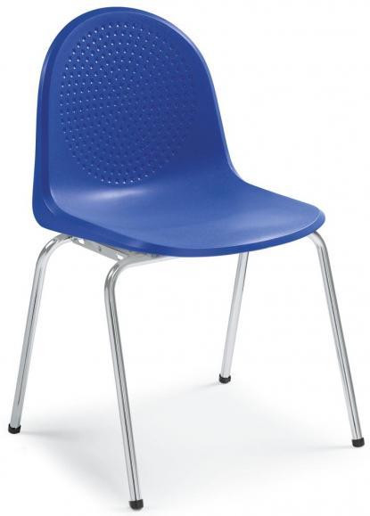 Polyamid-Schalenstühle P1 Blau   ohne Armlehnen