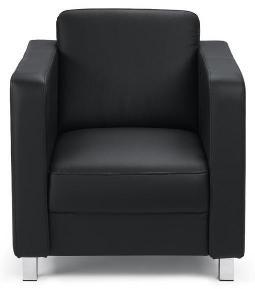 Sessel Arezzo Schwarz | Sessel | Echtleder