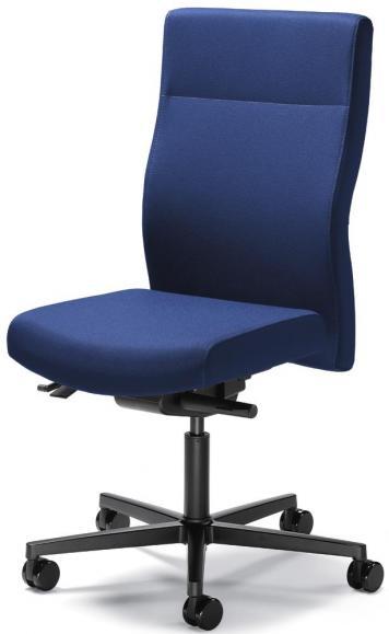 Bürodrehstuhl winSIT ohne Armlehnen Blau | Sitzneigeverstellung-Automatik, Sitztiefenverstellung | Polyamid schwarz