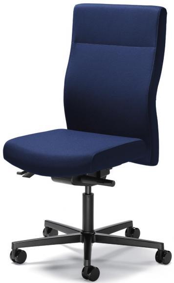 Bürodrehstuhl winSIT ohne Armlehnen Dunkelblau | Sitztiefenverstellung | Polyamid schwarz