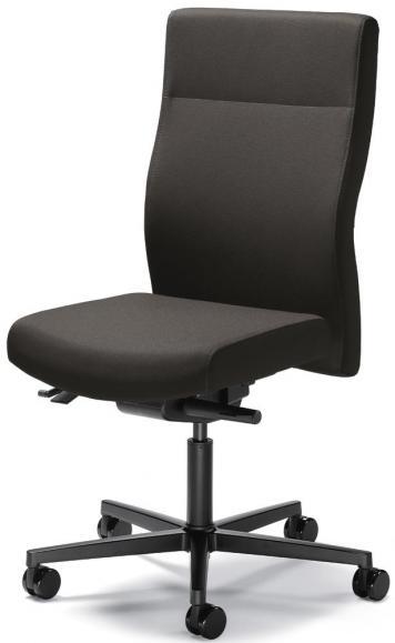 Bürodrehstuhl winSIT ohne Armlehnen Dunkelgrau | Sitztiefenverstellung | Polyamid schwarz