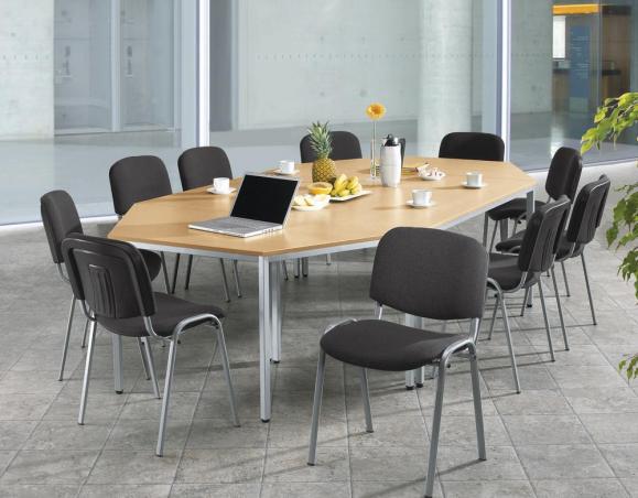 SET-ANGEBOT 4x Besprechungstisch BASE-MODUL + 10 Stühle