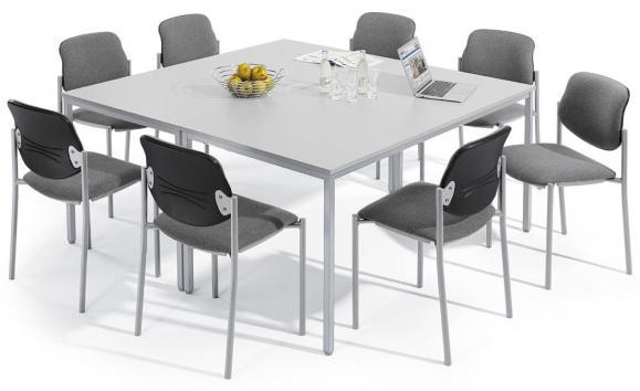 SET-ANGEBOT 2x Konferentisch BASE-MODUL und 8x Stühle