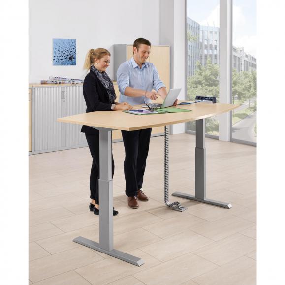 Sitz-/ Stehbesprechungstisch - elektromotorisch höhenverstellbar